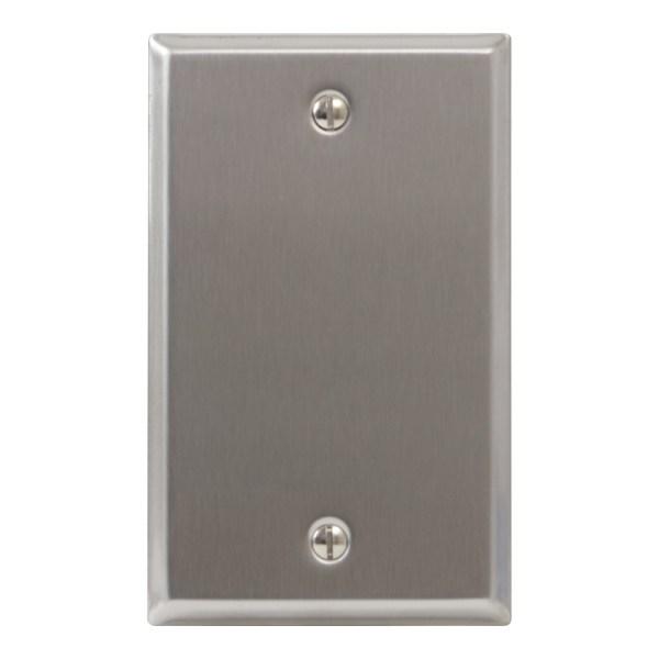 Stainless Steel Faceplate Blank Single Gang IC630EBSSS