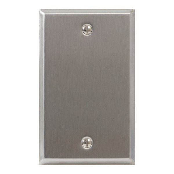 Stainless Steel Faceplate Blank Single Gang IC630EBSSS