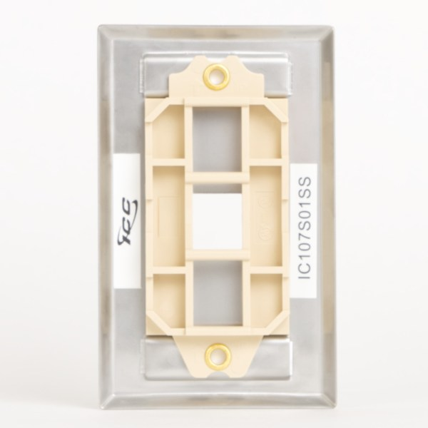 Station ID Steel Faceplate 1 Port Single Back IC107S01SS
