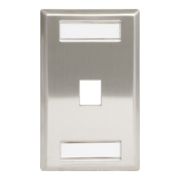 Station ID Steel Faceplate 1 Port Single IC107S01SS