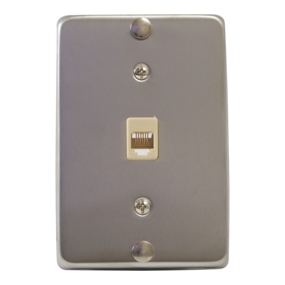 Telephone Faceplate Stainless Steel 6P6C IC630DA6SS