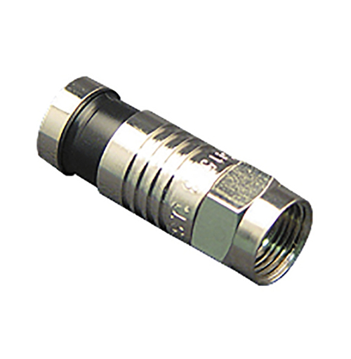 F-Type Compression Connector for RG-59 Cable in 100 Pack