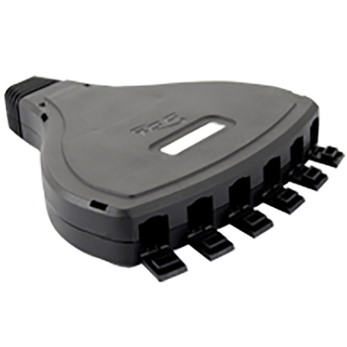 Configurable Mobile Patch Box with 6 Ports in Black for EZ/HD Style