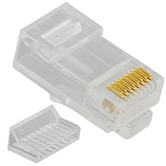 CAT 5e Stranded Modular Plug in 8P8C and 100 Pack