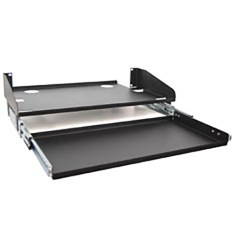 "10"" Deep LCD Monitor Shelf Sliding Keyboard Tray with 3 RMS"