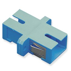 SC Simplex Fiber Optic Adapter with Metal Sleeve