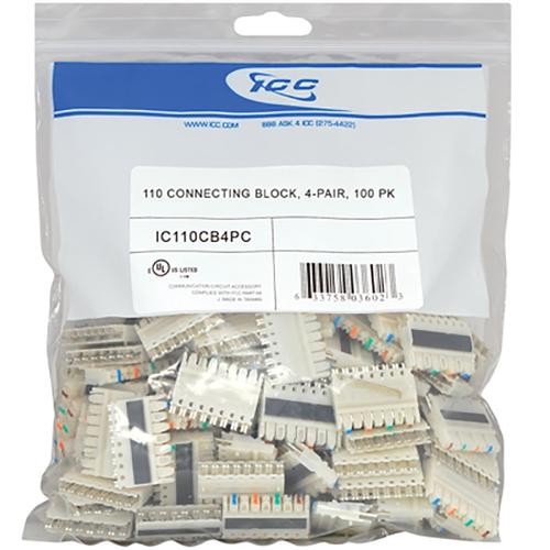 110 Connecting Block 4 Pair in 100 Pack