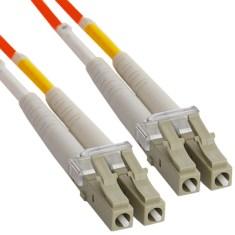 LC Duplex Multimode 50/125 (OM2) Fiber Optic Patch Cable in Orange