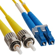 LC-ST Duplex Singlemode 62.5/125 (OS1) Fiber Optic Patch Cable in Yellow