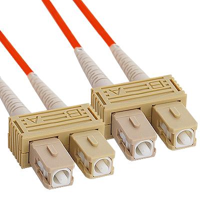 SC-SC Duplex Multimode 50/125 (OM2) Fiber Optic Patch Cable in Orange