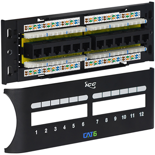 Cat 6 Wiring Diagram: CAT6 Zero-U Front Access Patch Panel With 12 Ports