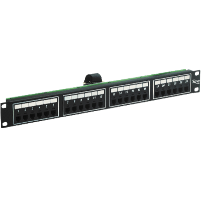 Voice 8P2C Patch Panel with Male Telco in 24 Ports and 1 RMS