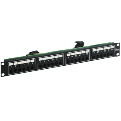 Voice 6P4C Patch Panel with Female Telco in 24 Ports and 1 RMS
