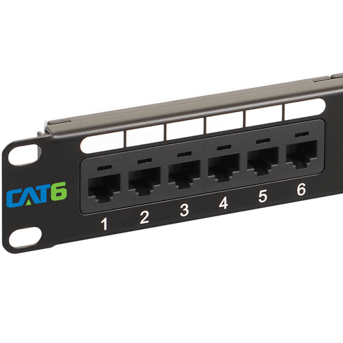CAT 6 Patch Panel with 24 Ports and 1 RMS