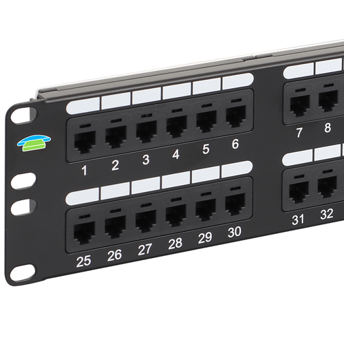 Voice USOC Patch Panel with 48 Ports and 2 RMS