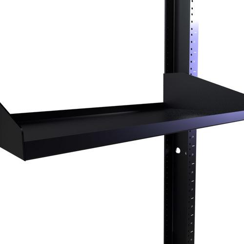 "10"" Deep Single Sided Rack Shelf with 2 RMS"
