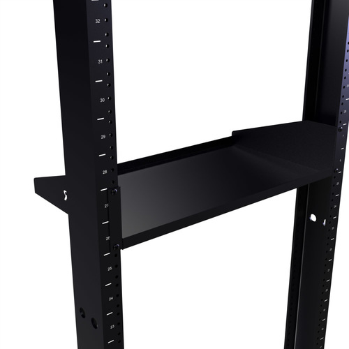 "10"" Deep Single Sided Rack Shelf with 2 RMS"