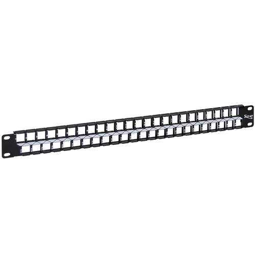 Blank Patch Panel with 48 Ports and 1 RMS for HD Style