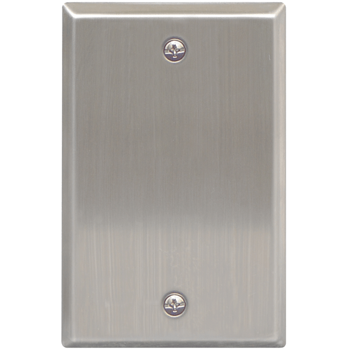 Stainless Steel Faceplate Blank in Single Gang