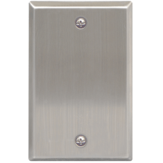 Stainless Steel Faceplate Blank in Single Gang