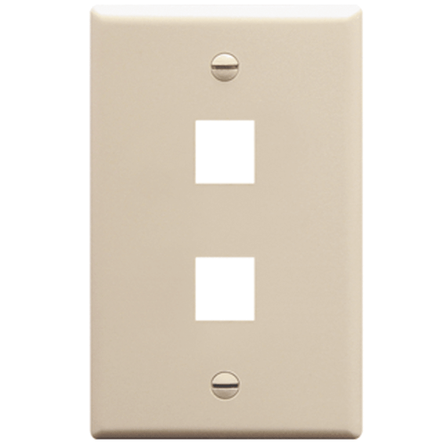 Classic Oversized Faceplate with 2 Ports in Single Gang