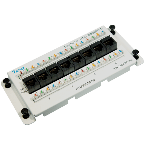 Residential Data Module, CAT 6 with 8 Ports