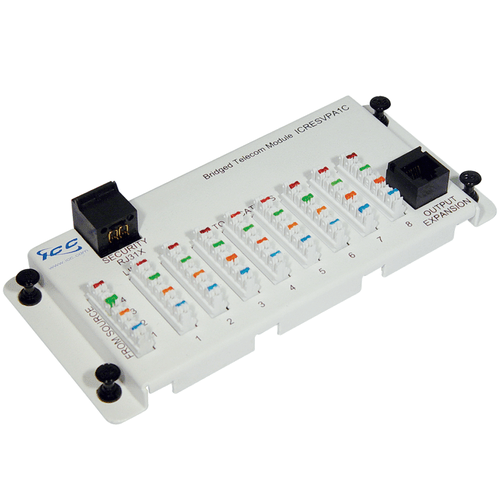 Telephone Expansion Module with Steel Bracket in RJ-31X and 8 Ports