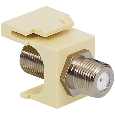 F-Type Keystone Jack with 2 GHz Nickel Plated Connector for HD Style