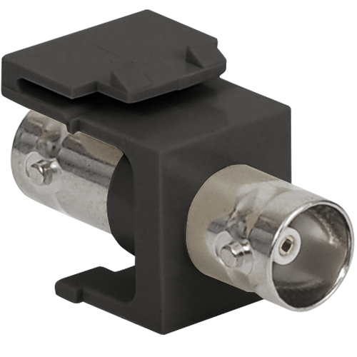 BNC Keystone Jack for 50 Ohm with Nickel Plated Connector for HD Style in Black