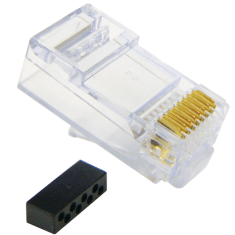 CAT 6 Solid/Stranded Modular Plug and 100 Pack
