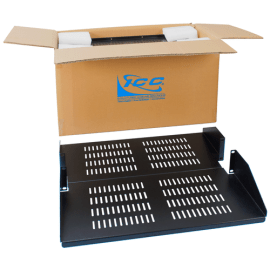 """20"""" Double Sided Rack Shelf Vented with 2 RMS in 2 Pack"""