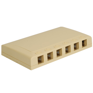 Elite Surface Mount Box with 6 Ports