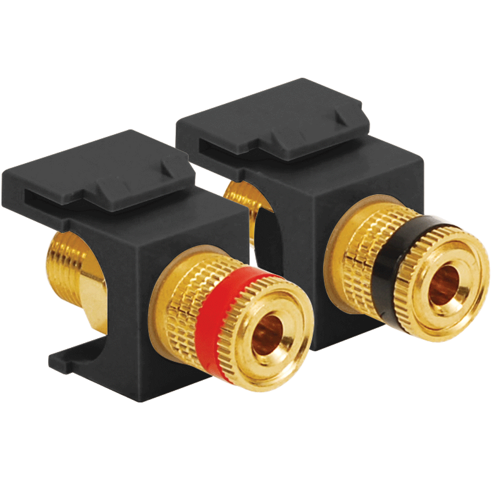 Binding Post Audio Speaker Connectors In Hd Style Icc Dc Adapter Plug Wiring Addition Power Connector Polarity With Red And Black Gold Plated Posts Female Banana Plugs For