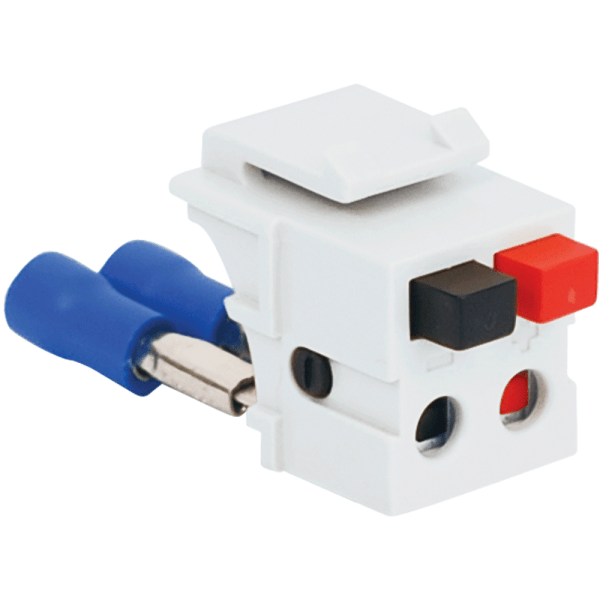 Audio Speaker Connector with Patented Front Push Buttons for HD Style