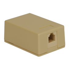 Surface Mount Box Keystone Jack with 1 Voice in 6P6C for EZ