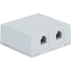 Surface Mount Box with 2 Voice in 6P6C for EZ