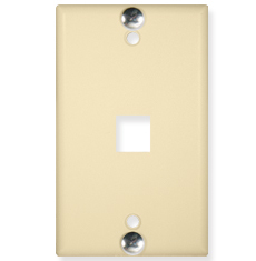 Telephone Wall Plate with 1 Port for EZ/HD Style and Hanging Standoffs