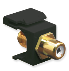 RCA to F-Type Modular Jack with White Insert and Gold Plated Connector in HD Style