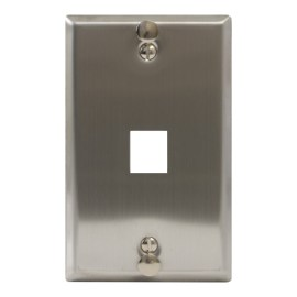 Telephone Stainless Steel Faceplate 1 Port IC107FFWSS
