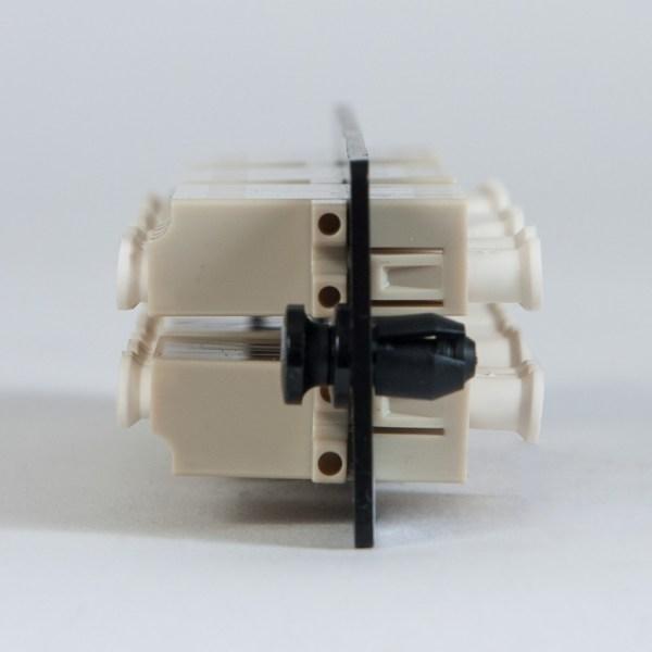 LGX Adapter Panel 6 Quad LC Beige Side ICFOPL1615