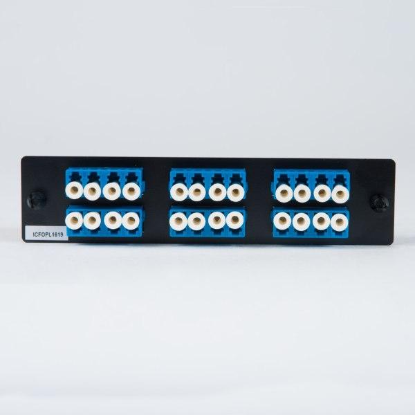 LGX Adapter Panel 6 Quad LC Blue Back ICFOPL1619