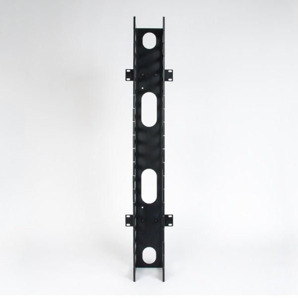 Vertical Plastic Finger Duct 7 Foot Rack 2 Sets Front ICCMSC30BK