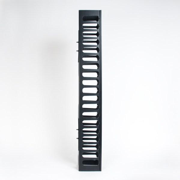 Vertical Plastic Finger Duct 7 Foot Rack 2 Sets Side ICCMSC30BK