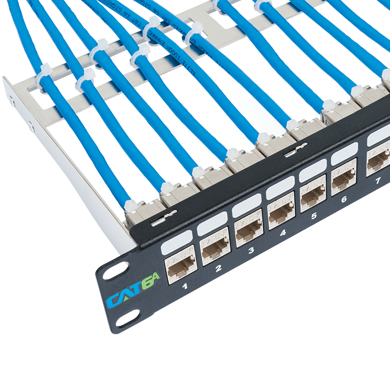 CAT6A FTP Patch Panel with Grounding