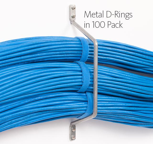 Metal D-Rings to Wall in 100 Pack