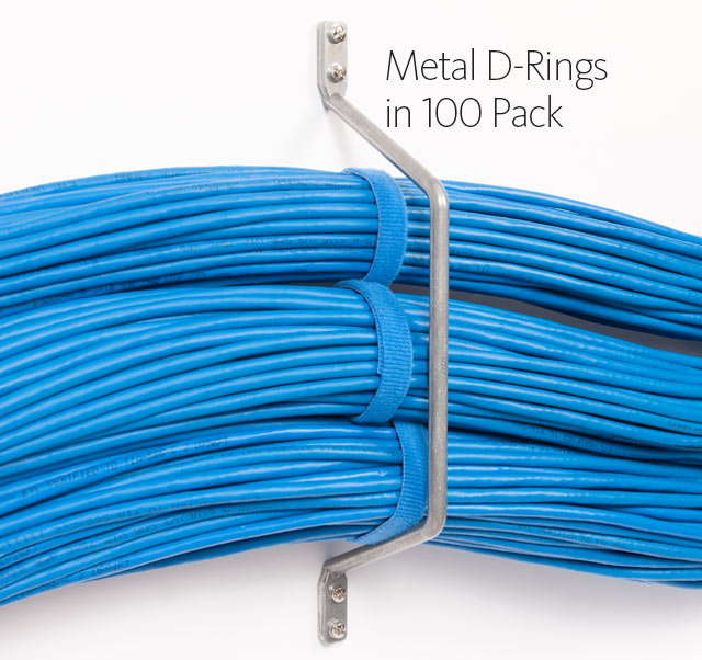 Metal D-Rings to Wall in 100 Pack