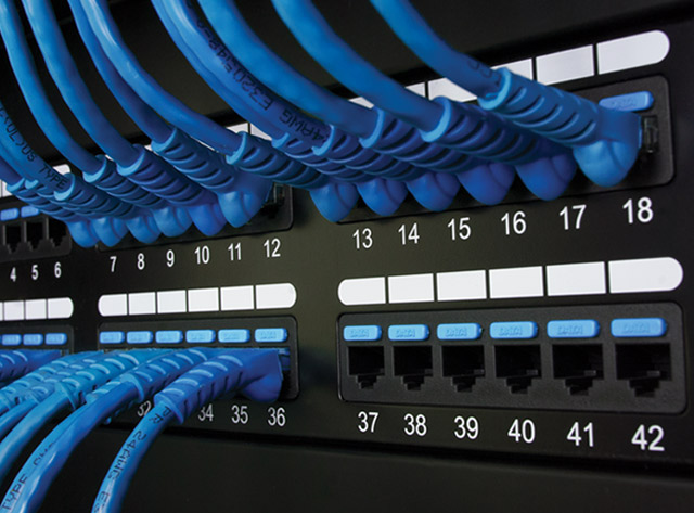 Image of CAT6 Patch Panel with 48 Ports and 2 RMS