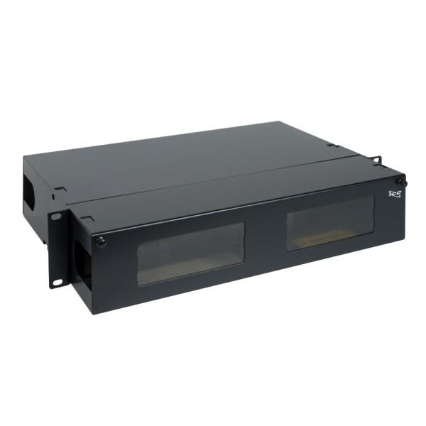 HD Fiber Optic Rack Mount Enclosure 8 Panels 2 RMS ICFORE82RM