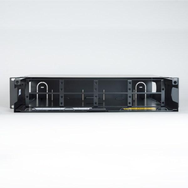 HD Fiber Optic Rack Mount Enclosure 8 Panels 2 RMS Front No Cover ICFORE82RM
