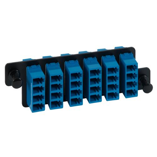 ICFOPL16H9 LC LC Fiber Optic HD Adapter Panel Blue Multimode Adapters 24 10G Fibers